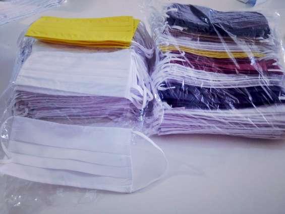 Barbijos de tela. varios colores