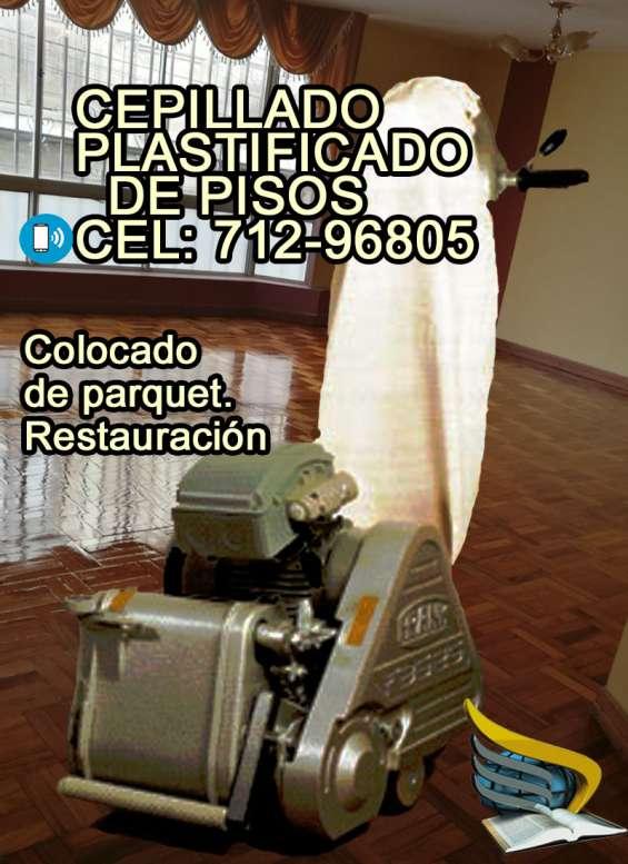 Cepillado plastificado de pisos