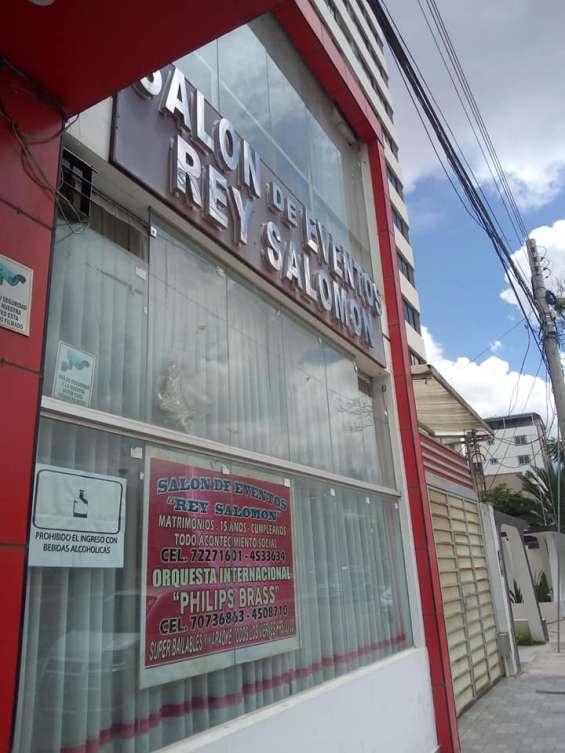 Edificio y salon de eventos en venta