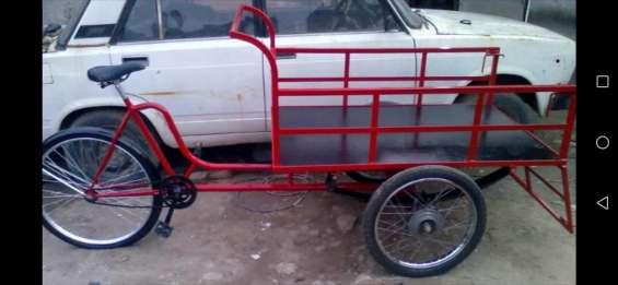 Triciclo de carga con pedal y muelles