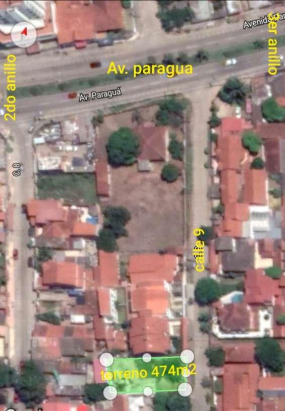 Terreno en venta 73976078 ubicacion: av. paragua, entre 2do y 3er anillo