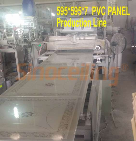Production line of pvc panel offered by sinoceiling