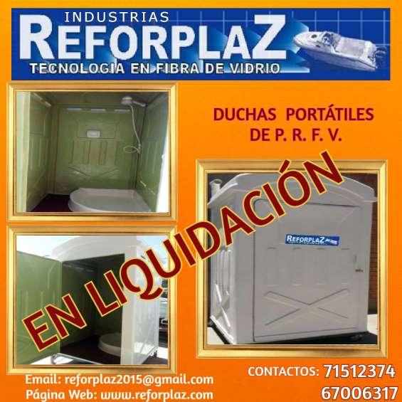 Duchas y baños portátiles, en liquidación hasta agotar stock