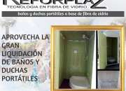 duchas y baños portátiles en liquidación hasta agotar stock, a precios Accesibles