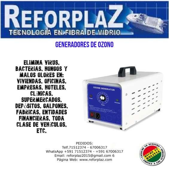 Generadores de ozono para la eliminacion de virus, bacterias, hongos