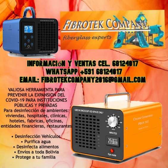 Generadores de ozono para desinfeccion de ambientes contra covid-19