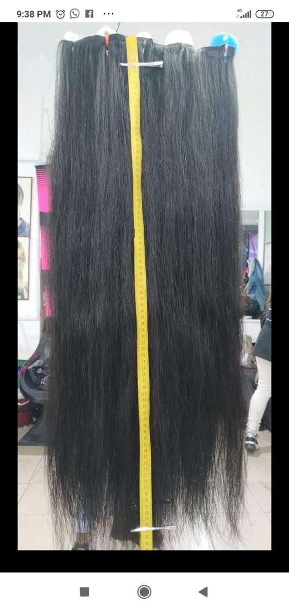 Vendo cabello natural en perfectas condiciones 80 cm